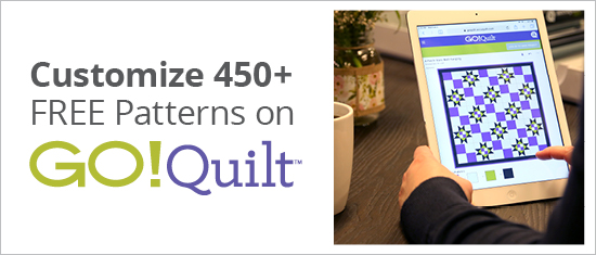 GO! Quilt | Customize 450+ FREE Patterns