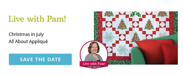 Facebook Live with Pam | All About Appliqué
