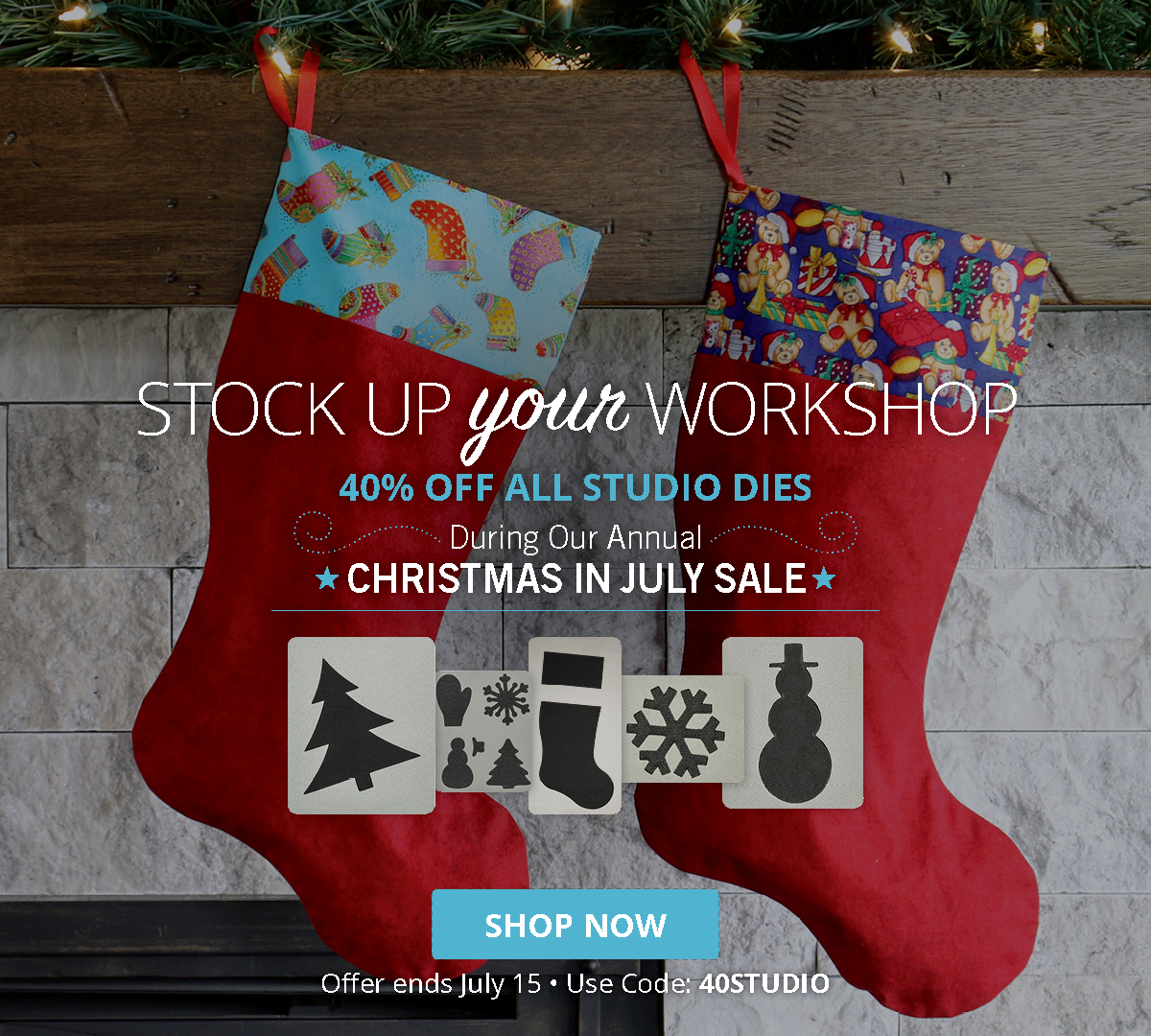 Stock Up Your Workshop | 40% Off ALL Studio Dies