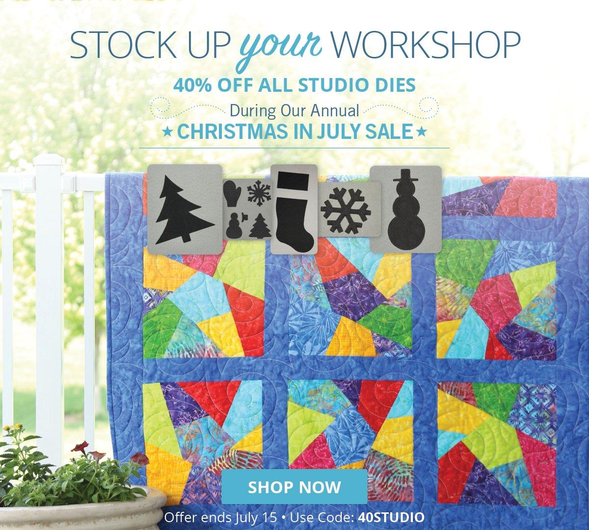 Stock Up Your Workshop | 40% Off All Studio Dies