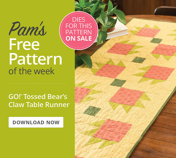 Pam's Free Pattern of the Week | GO! Tossed Bear's Claw Table Runner