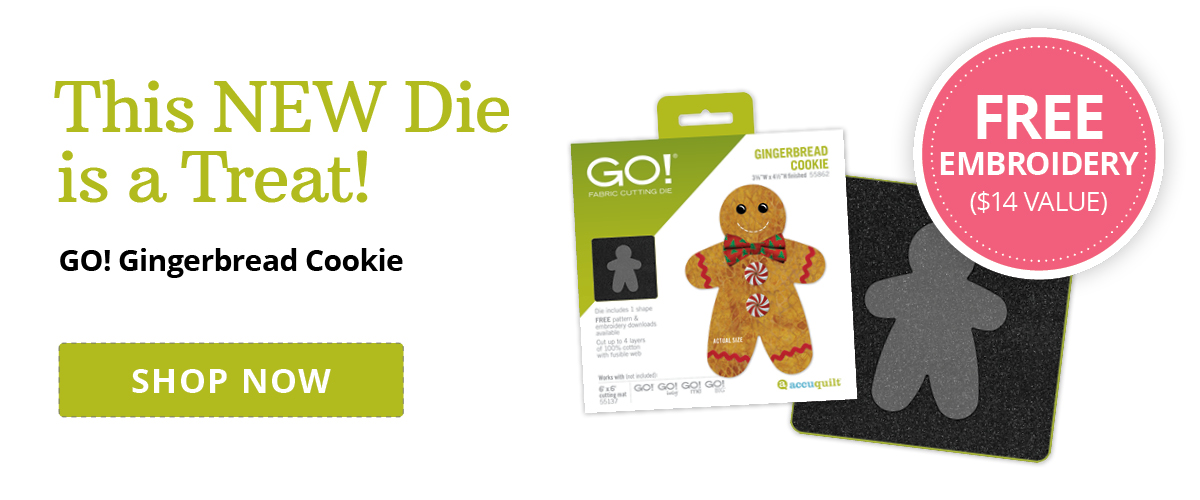 This NEW Die is a Treat | Shop GO! Gingerbread Cookie >