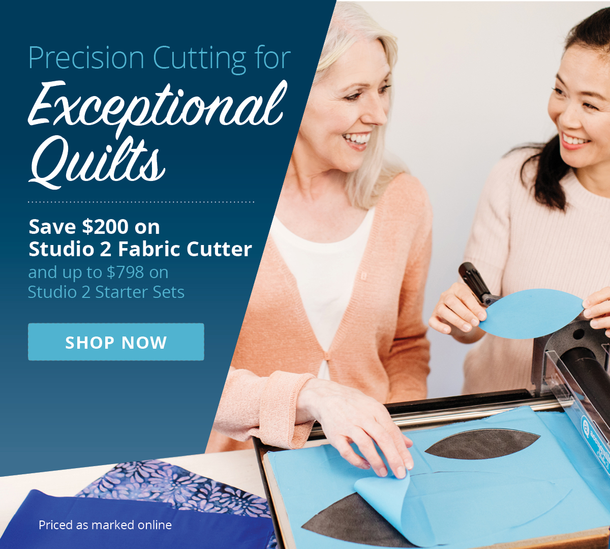 Precision Cutting for Exceptional Quilts | Save $200 on Studio 2