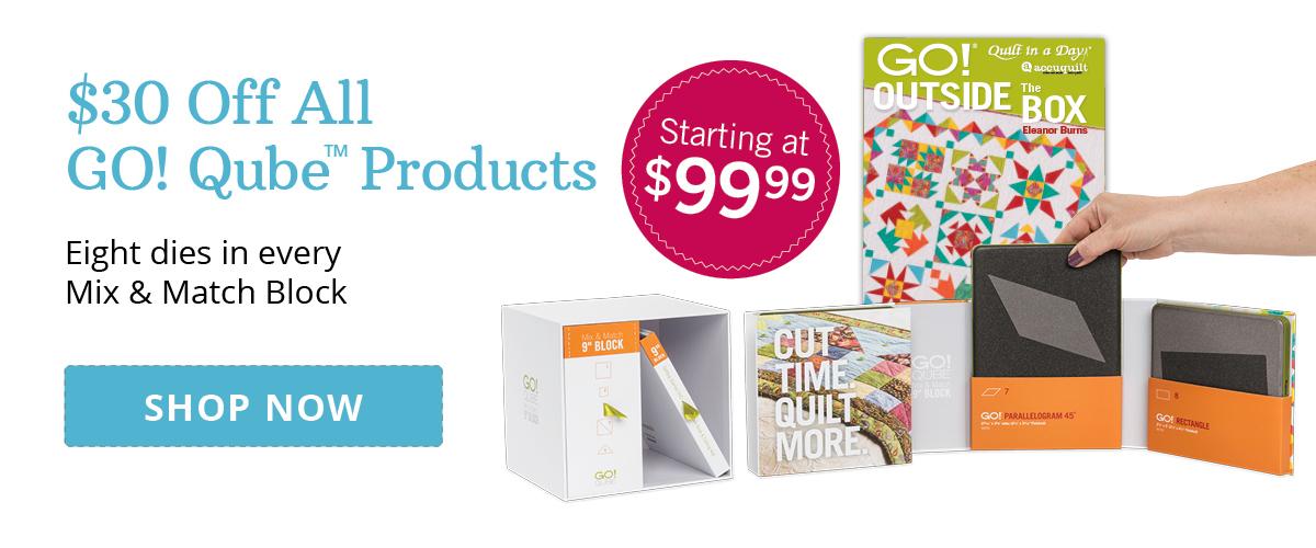 $30 Off GO! Qubes | Shop Now >