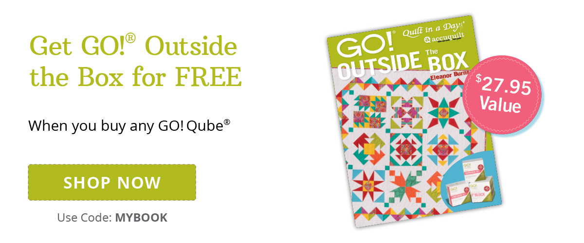 Free Pattern Book with GO! Qube Purchase | Shop Now >