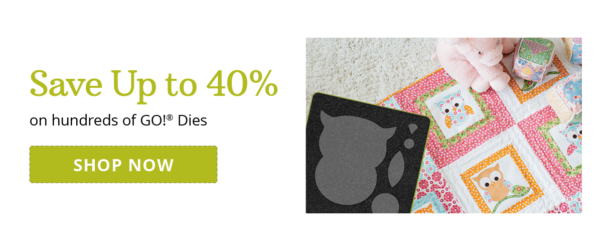 New Year, New Projects | Get Up to 40% off Select GO! Dies >
