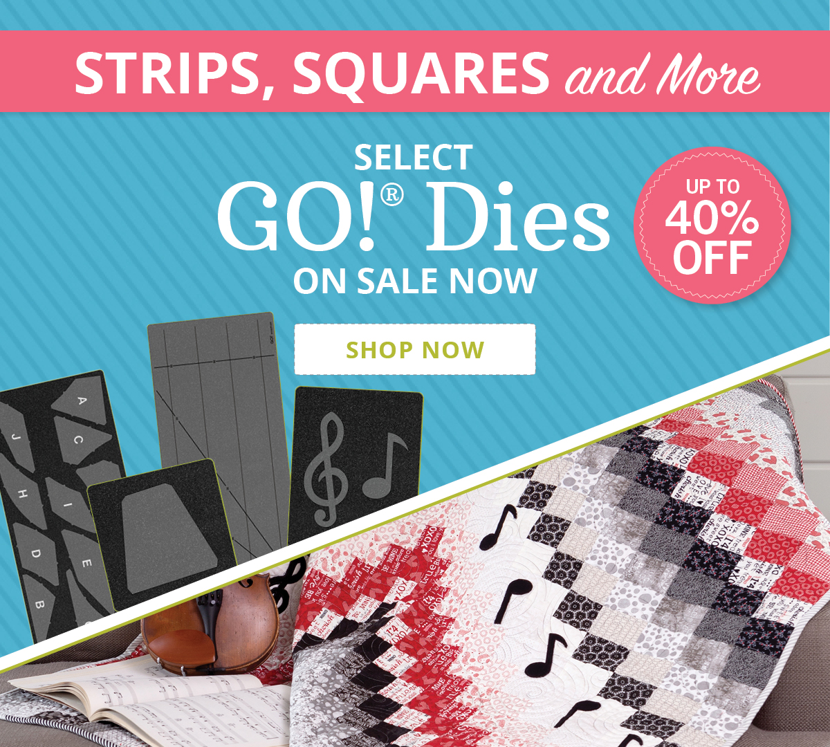 Let Your Creativity Blossom | Up to 40% Off Select GO! Dies >