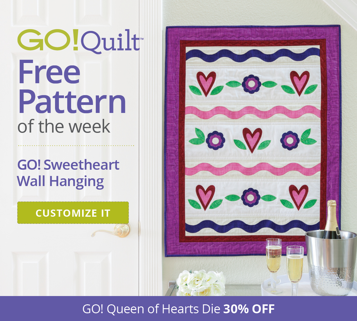 GO! Quilt Free Pattern of the Week | GO! Sweetheart Wall Hanging