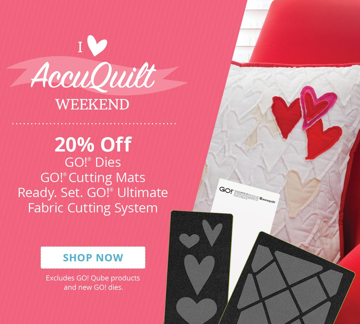 20% Off GO! Dies, GO! Cutting Mats & Ready. Set. GO! | Shop Now >